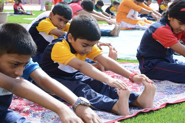de-stress with yoga