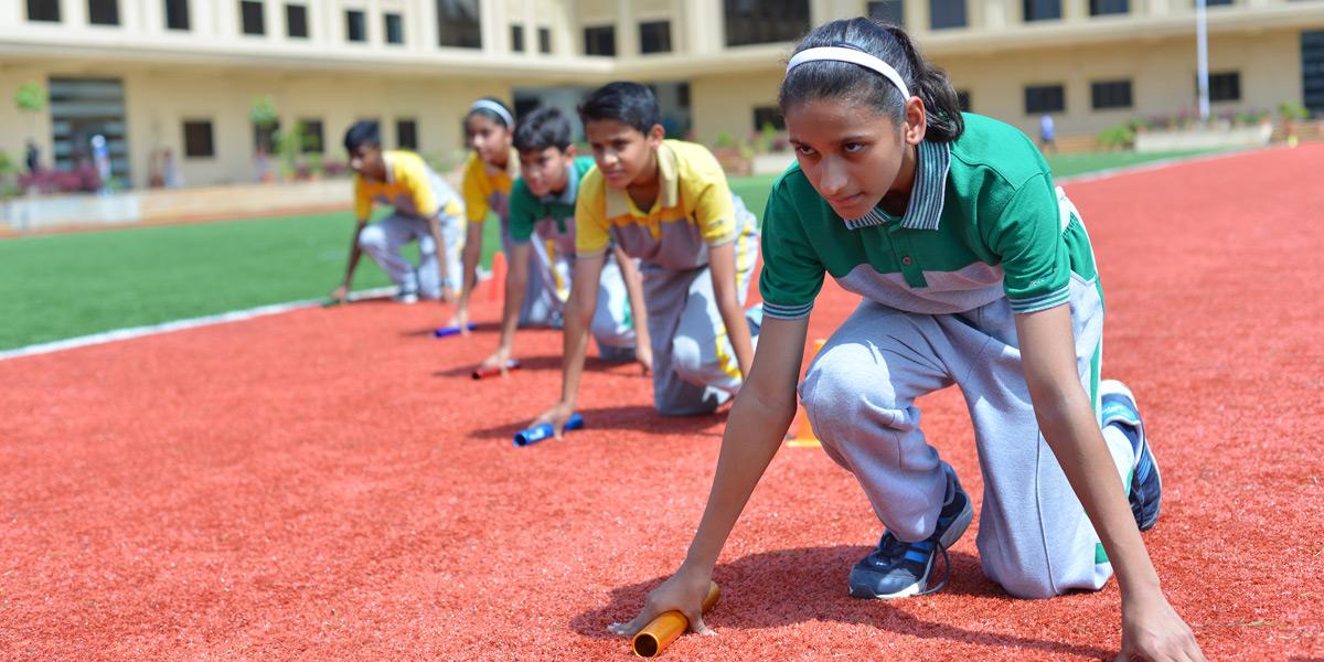 Relay race at Ashoka school