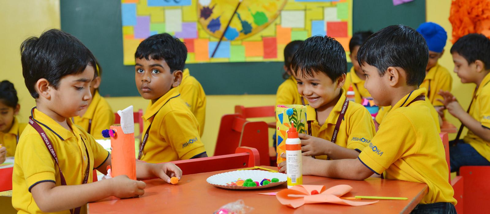 art and craft at ashoka preschool